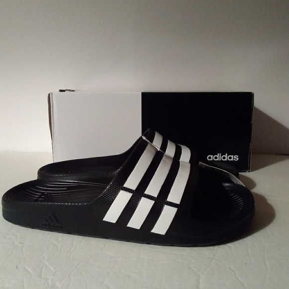 44cad08e9a0c Adidas Duramo Slide Sandals - Black White Men 11